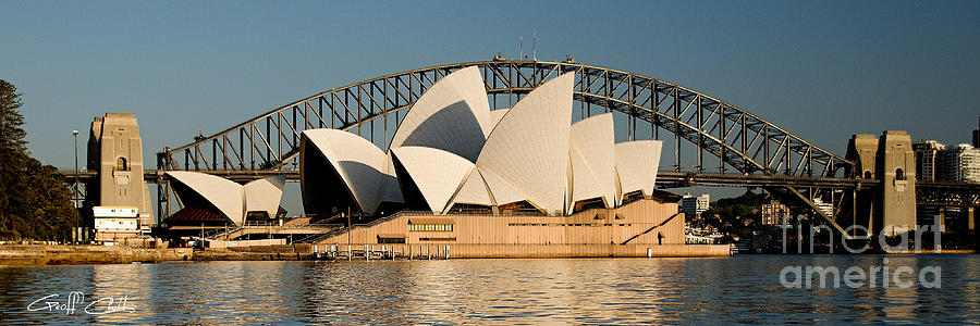 Sydney Opera House Photograph - Icons One And Two - Sydney Australia. by Geoff Childs