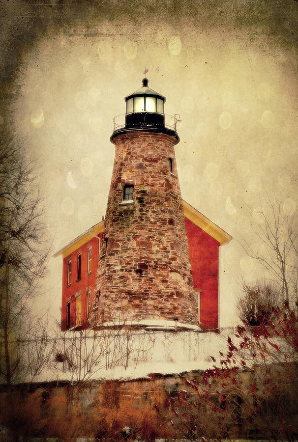 Lighthouse Photograph - Icy Light by Emily Stauring
