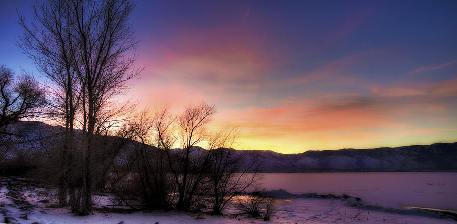 Ice Photograph - Icy Sunset by Dianne Phelps