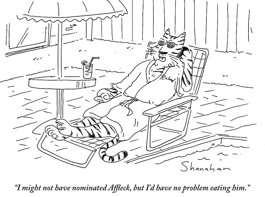 Cartoon Drawing - Id Have No Problem Eating by Danny Shanahan