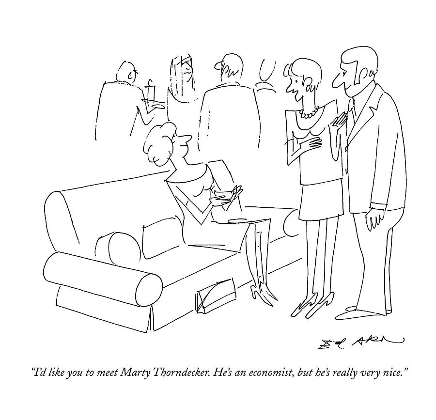 Id Like You To Meet Marty Thorndecker. Hes An Drawing by Ed Arno