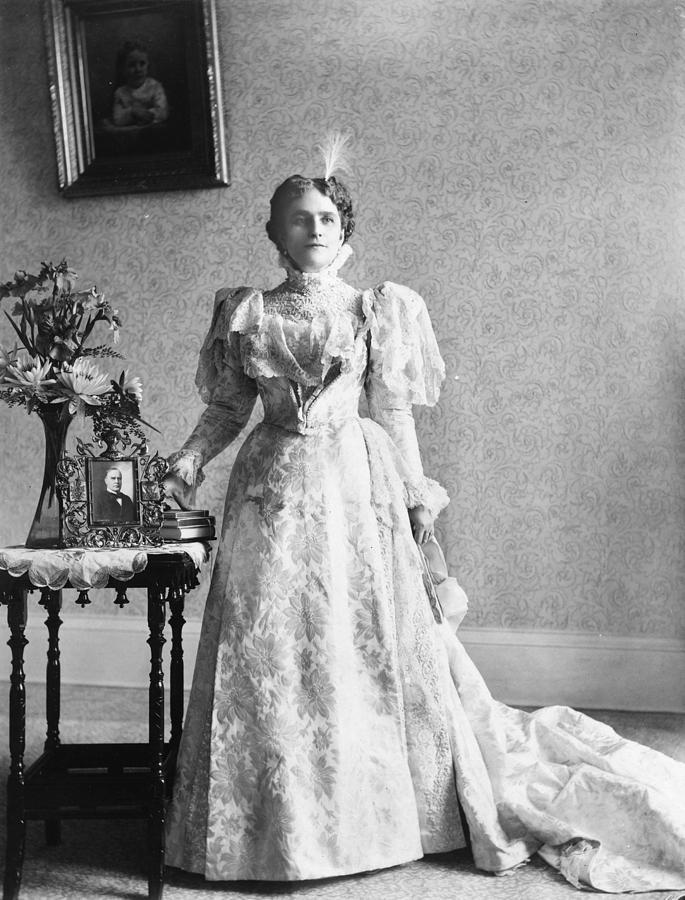 1897 Photograph - Ida Saxton Mckinley (1847-1907) by Granger