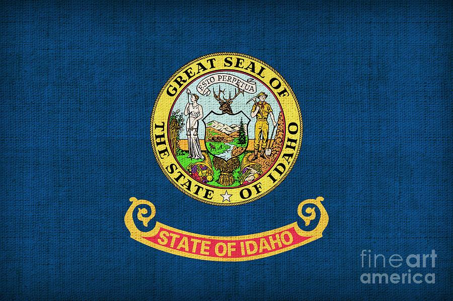 Idaho Painting - Idaho State Flag by Pixel Chimp
