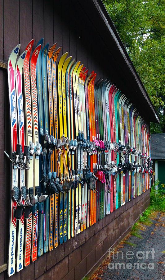 Ski Print Photograph - Idle Fun ... Waiting For Snow by Janice Sakry