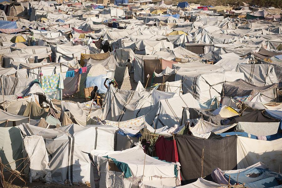 IDP Camp in Haiti Photograph by Claudiad