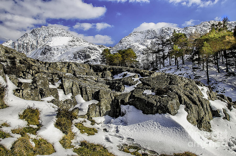Winter Photograph - Idwal At Winter by Darren Wilkes