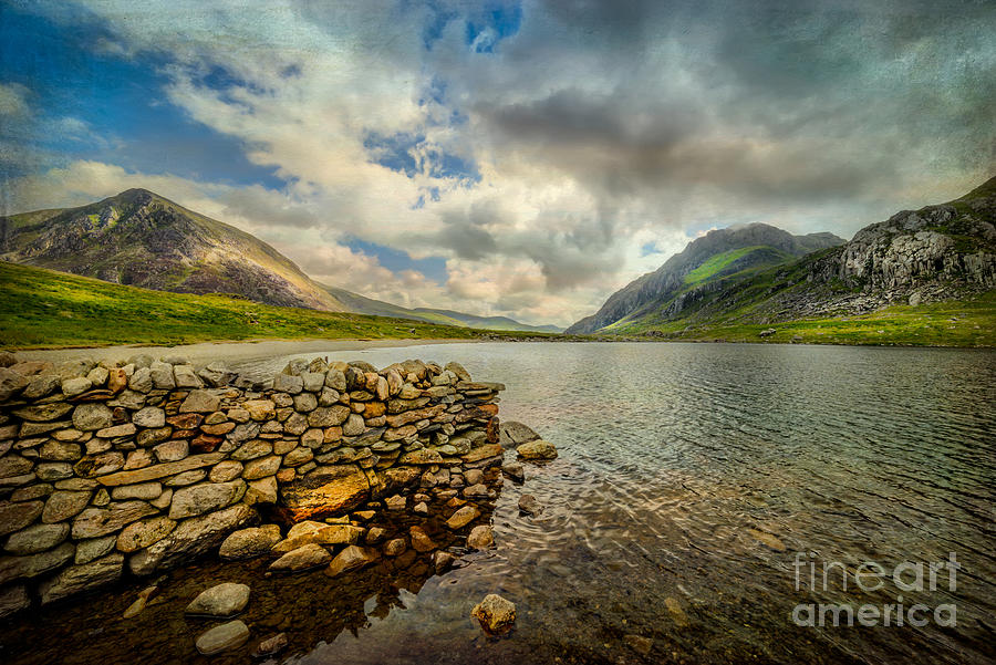 Hdr Photograph - Idwal Lake by Adrian Evans