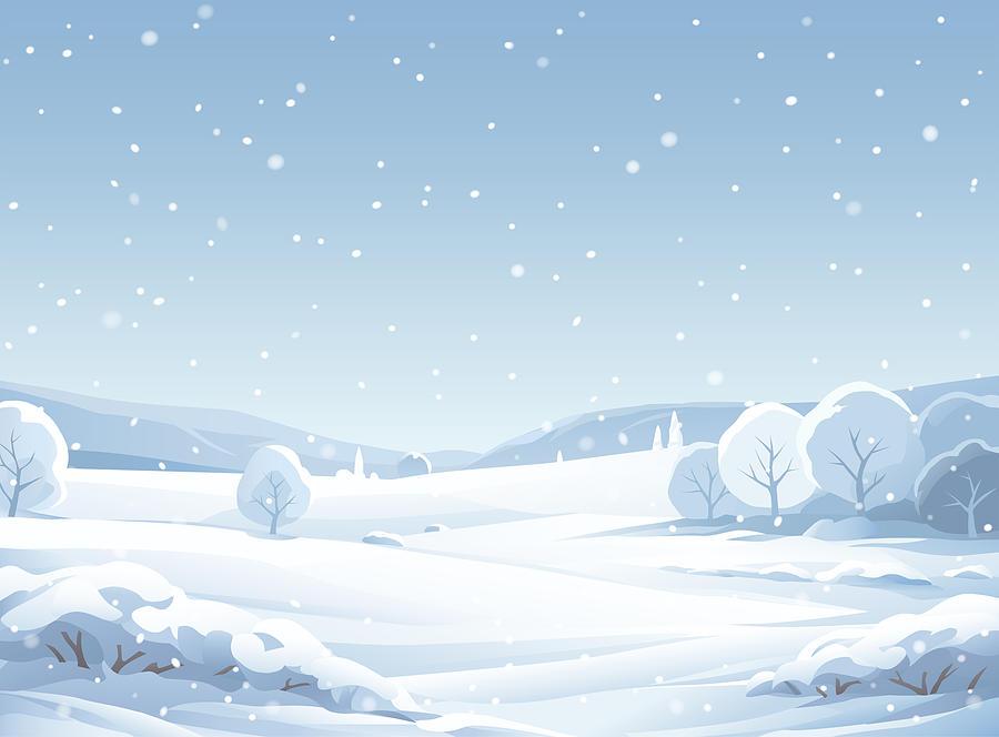 Idyllic Snowy Winter Landscape Drawing by Kbeis