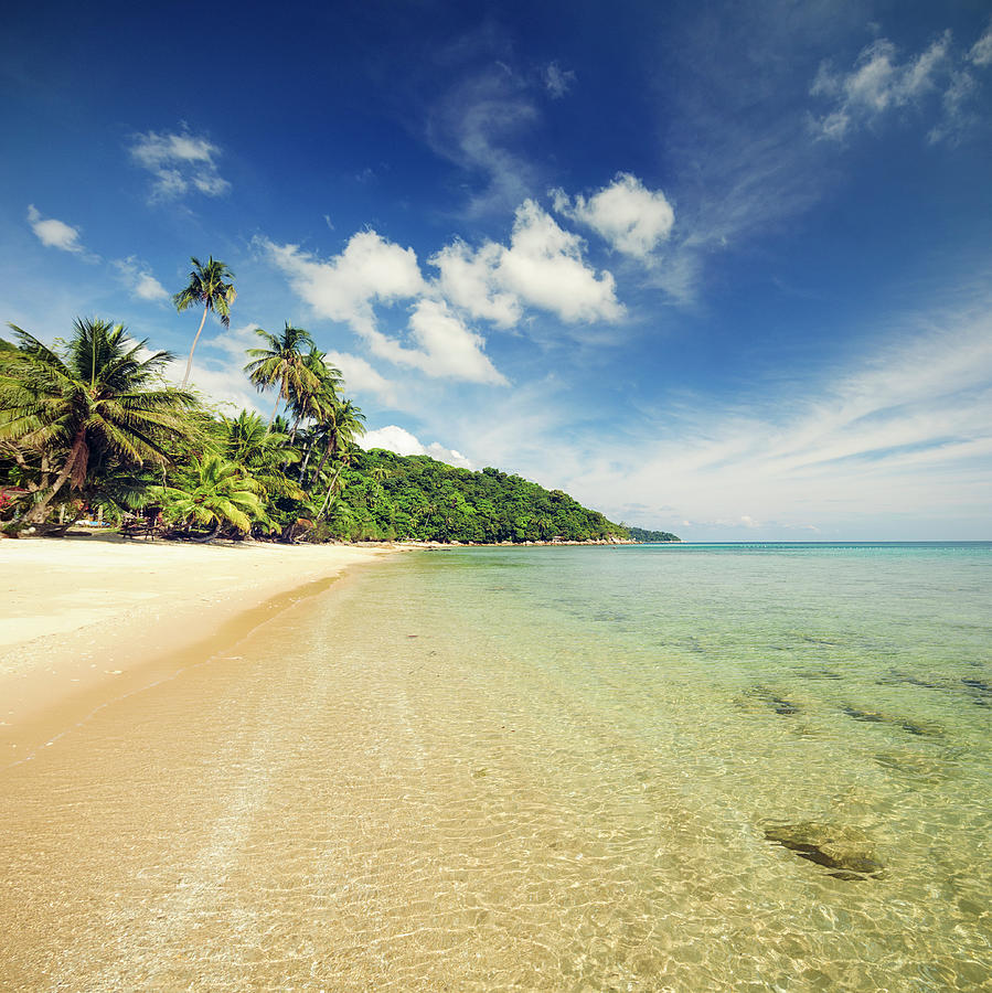 Idyllic Tropical Beach In South East Photograph by Georgeclerk