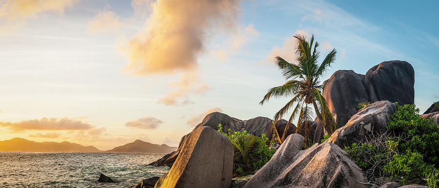 Idyllic Tropical Island Sunset Over Photograph by Fotovoyager