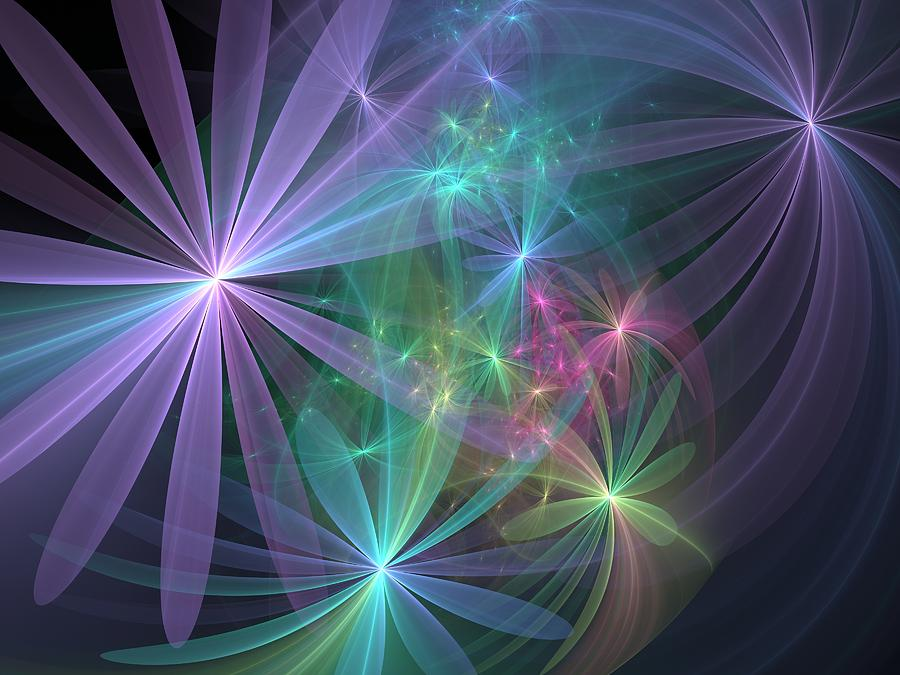 Flower Digital Art - If Flowers Had Wings... by Svetlana Nikolova