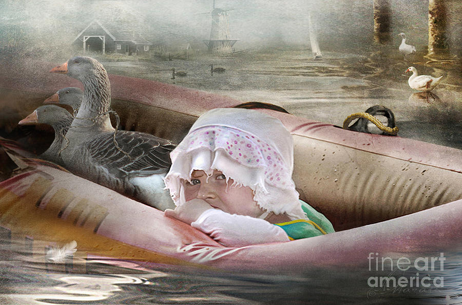 Waterfowl Digital Art - If I Could Save Em All by Adelita Rog