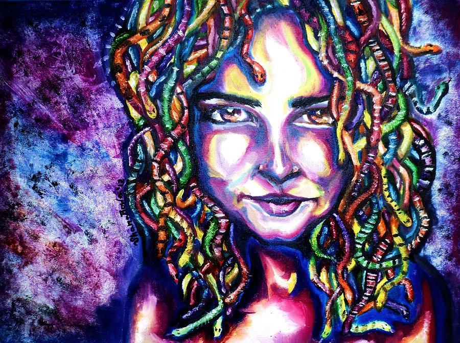 Medusa Painting - If Looks Could Kill by Shana Rowe Jackson