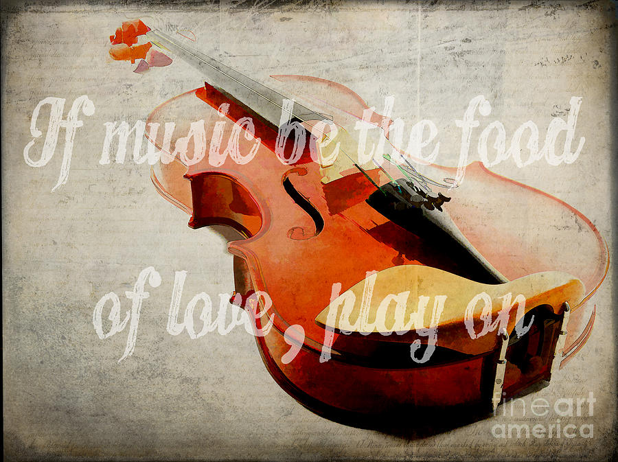 Music Photograph - If Music Be The Food Of Love Play On by Edward Fielding