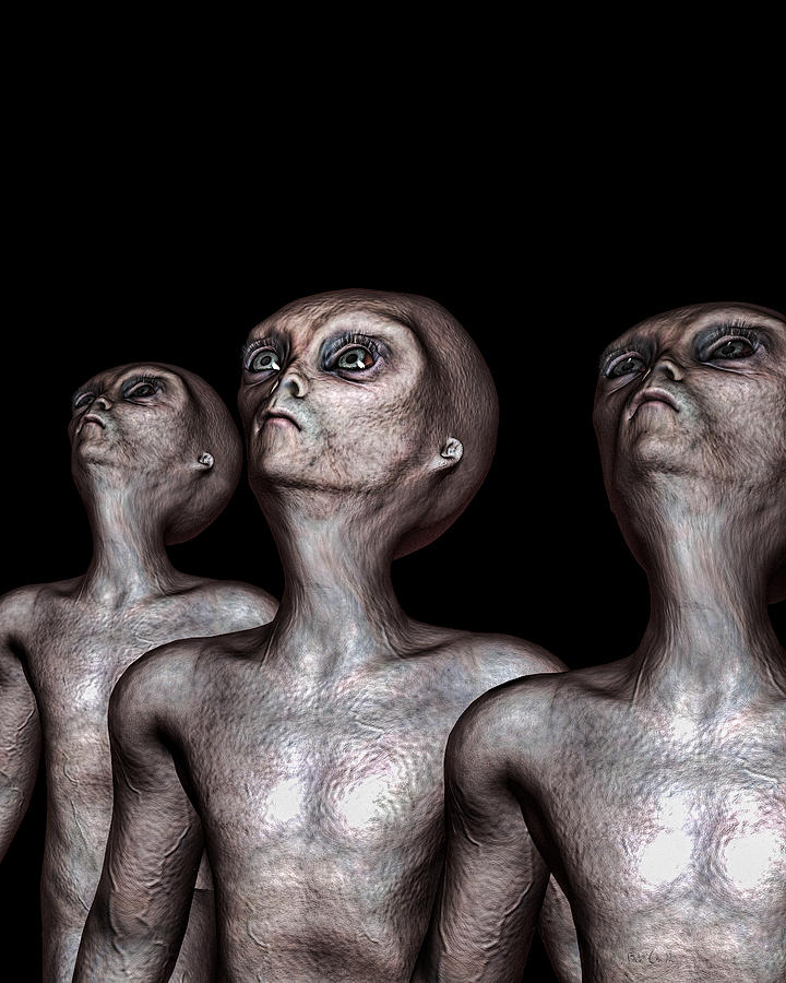 Alien Abduction Digital Art - If One Was Three by Bob Orsillo