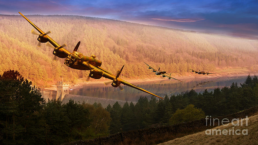 Avro Lancaster Photograph - If Only by Nigel Hatton