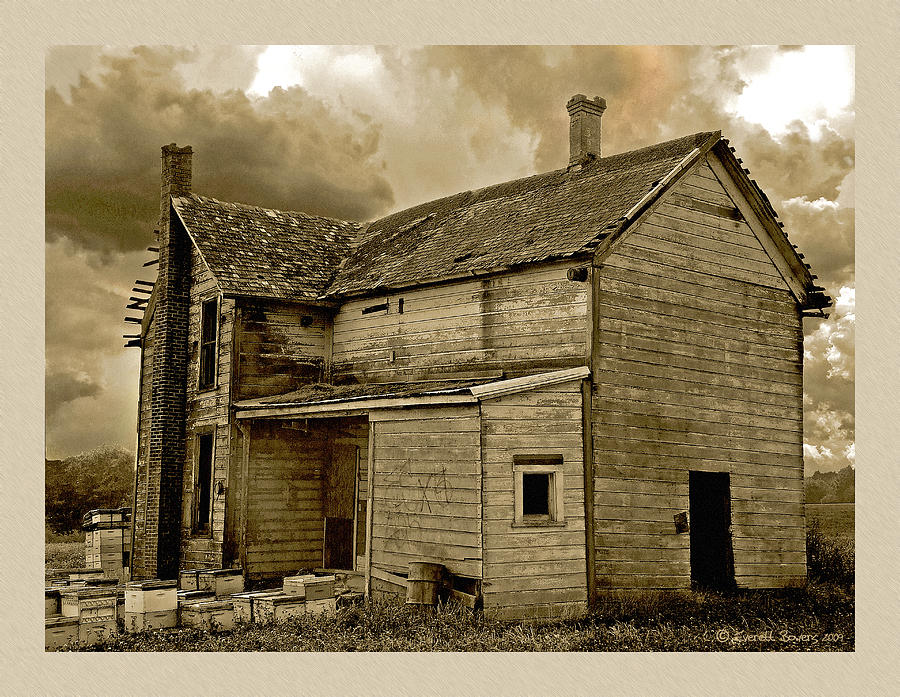 Haunted House Photograph - If The House Is Rockin . . . by Everett Bowers