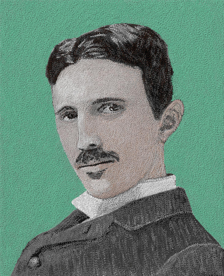 Nikola Tesla Painting - If You Could Read My Mind...tesla by G Cannon