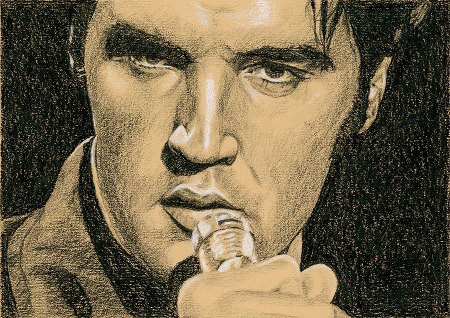 Elvis Drawing - If Youre Looking For Trouble by Rob De Vries