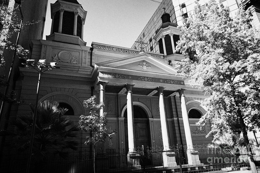 Iglesia Photograph - iglesia de las agustinas augustinian church Santiago Chile by Joe Fox