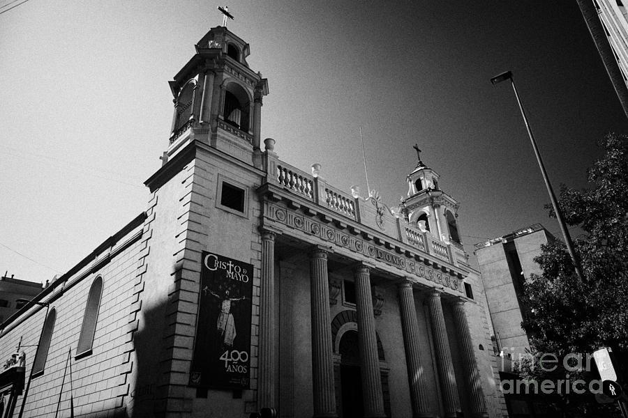 Iglesia Photograph - iglesia san agustin Santiago Chile by Joe Fox