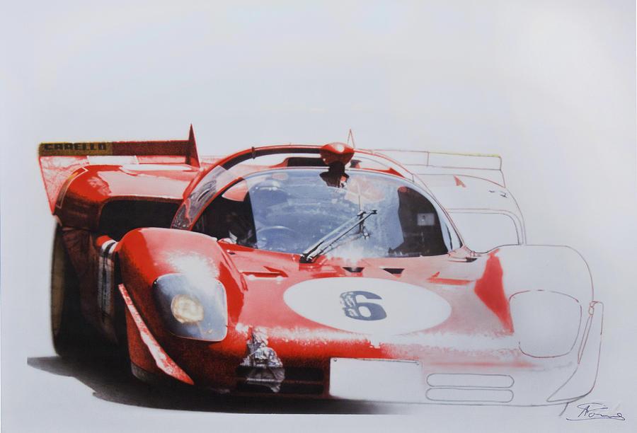 Ignazio Giunti - Ferrari 512 S - Targa Florio 1970 Painting by Alberto Ponno