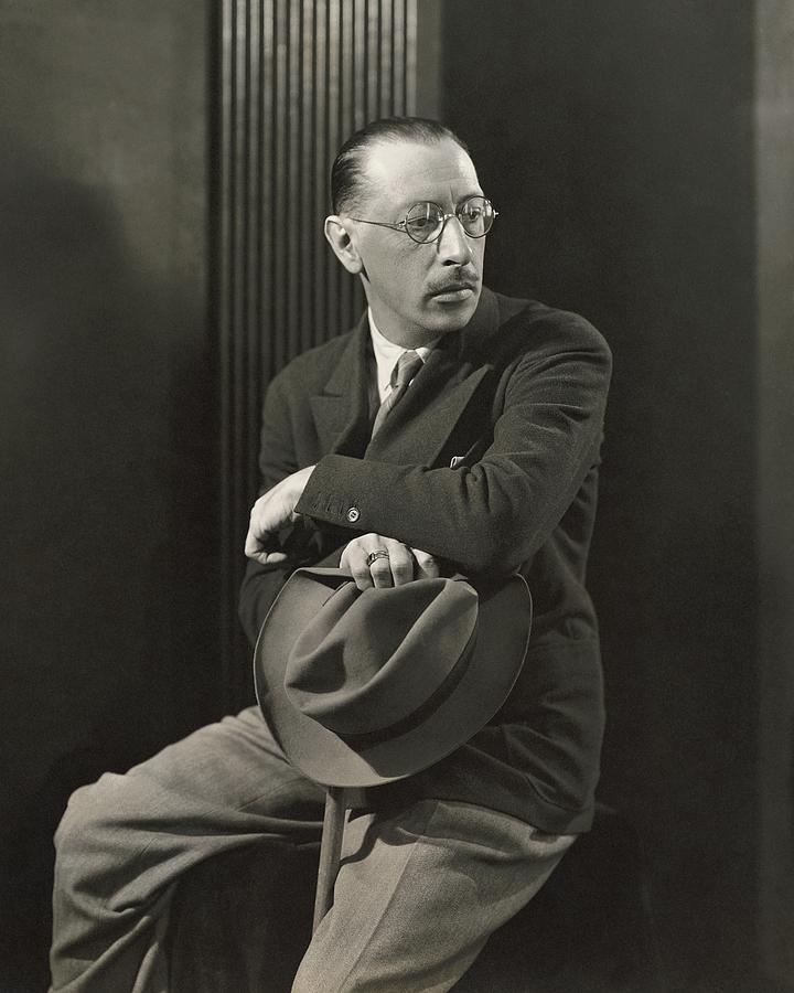 Igor Stravinsky With A Hat Photograph by George Hoyningen-Huene
