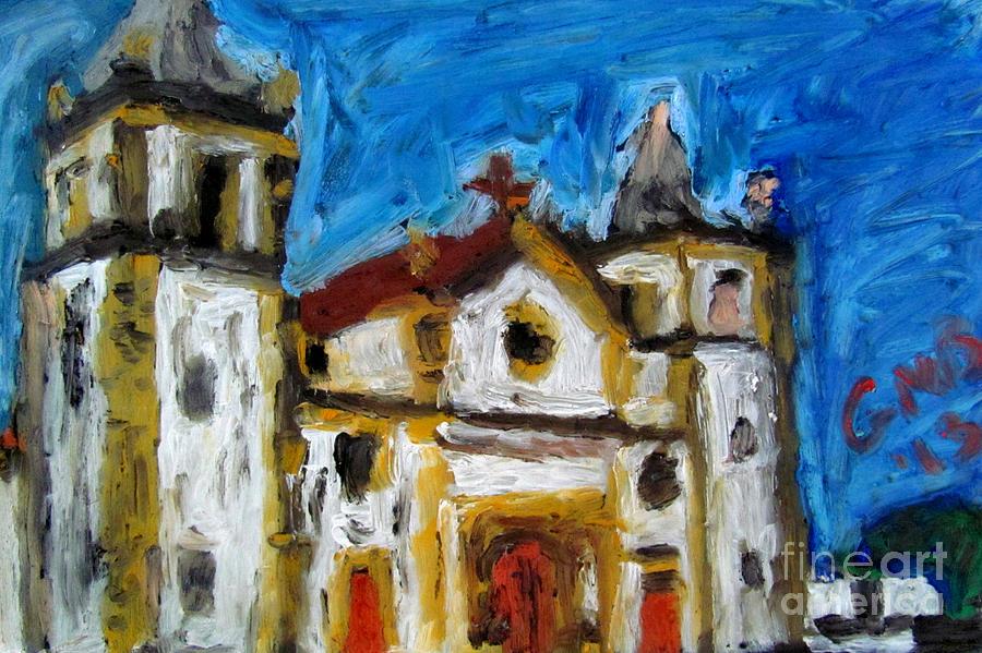 Olinda Painting - Igreja da Se de Olinda by Greg Mason Burns