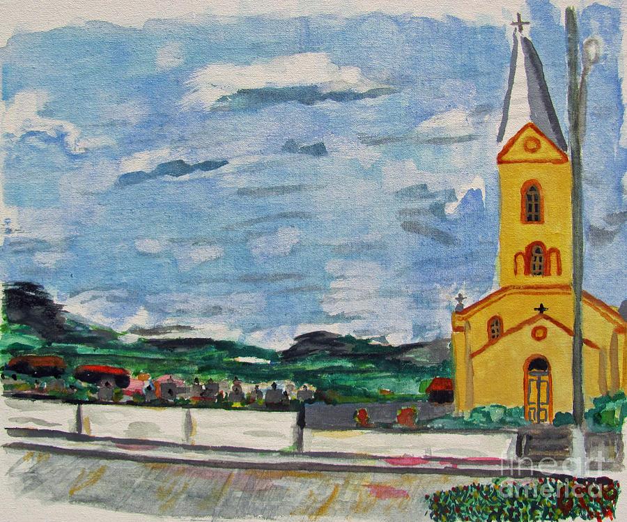 Iglesia Painting - Igreja Do Cerro Branco by Greg Mason Burns