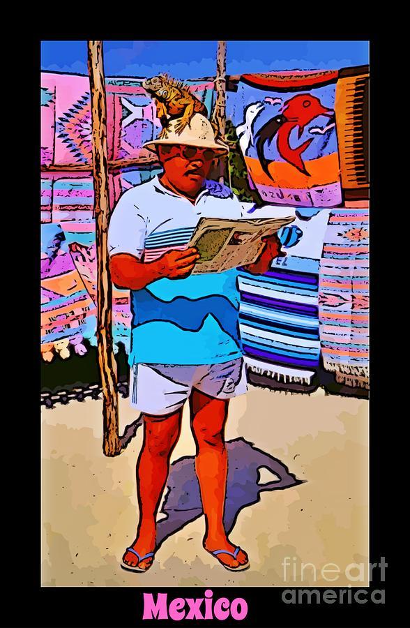 People Photograph - Iguana Man The Poster by John Malone