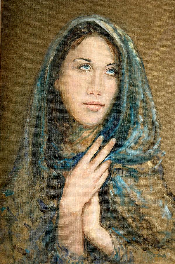 Portrait Painting - Ikesia by Sefedin Stafa