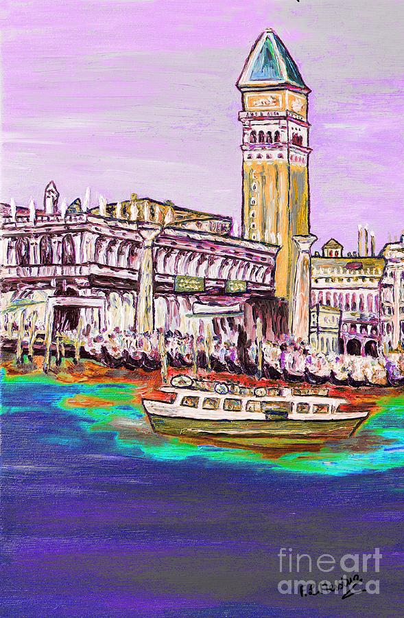 Oil Painting Painting - Il Campanile Di San Marco by Loredana Messina