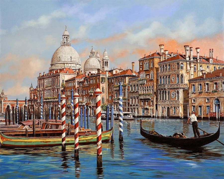 Venice Painting - Il Canal Grande by Guido Borelli