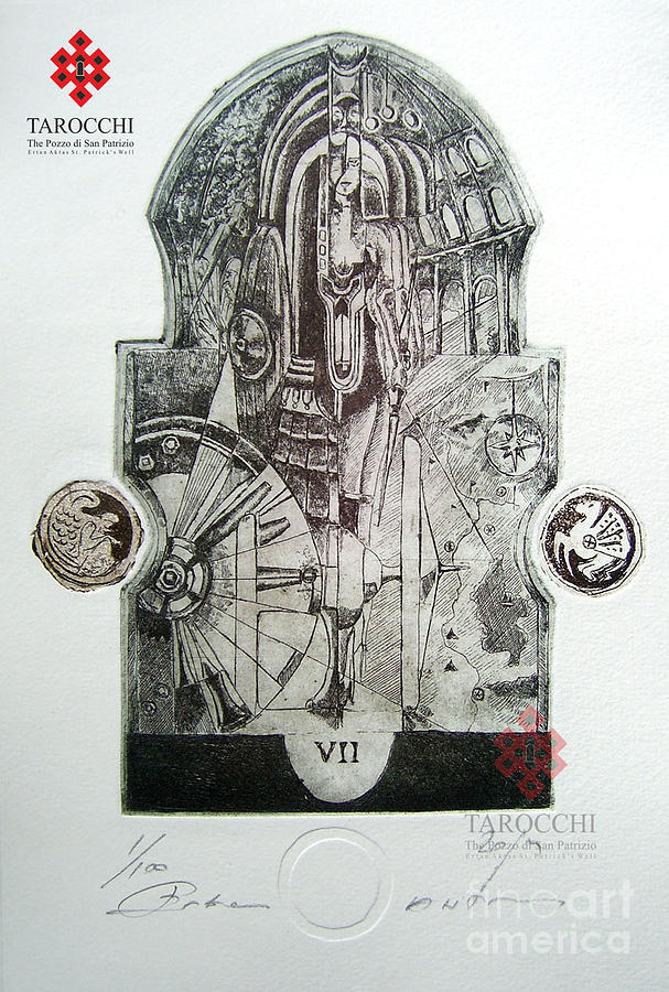 The Chariot Drawing - Il Carro by Ertan Aktas