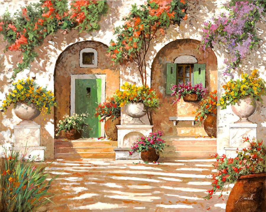 Arches Painting - Il Cortile by Guido Borelli