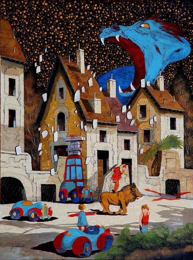 Drake Painting - Il Drago by Guido Borelli