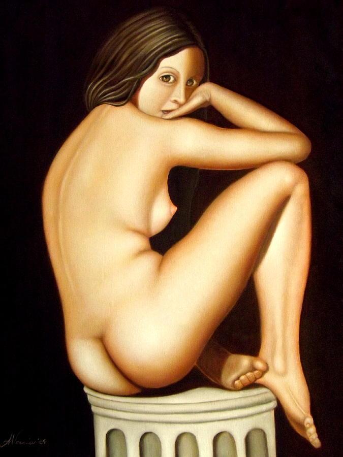 Nude Painting - Il giardino segreto - The secret garden by Alessandra Veccia