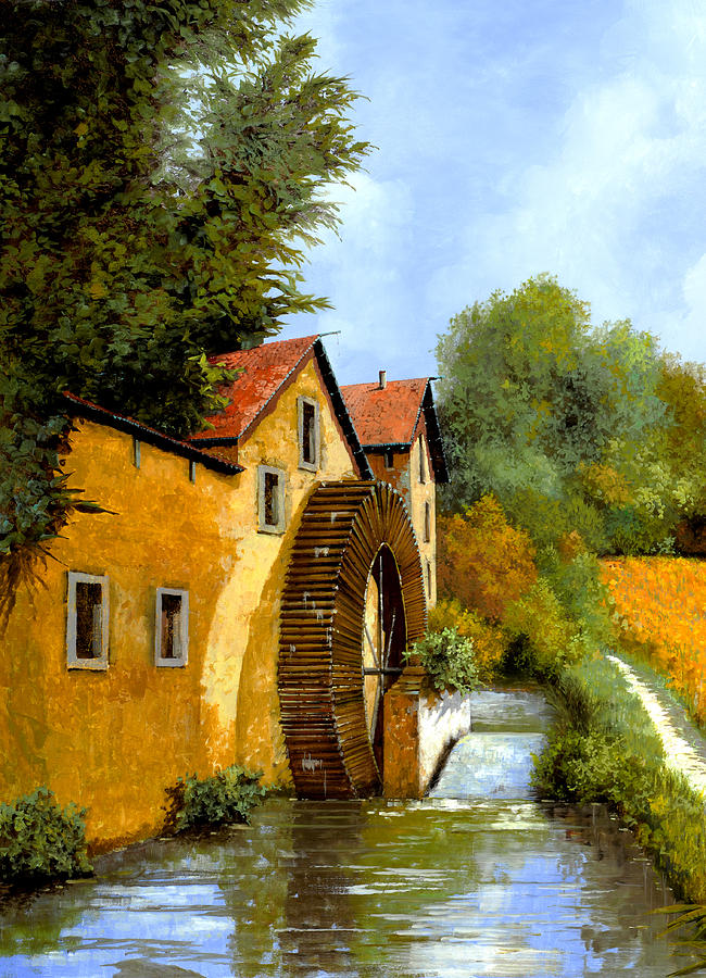 Water Mill Painting - Il Mulino Ad Acqua by Guido Borelli