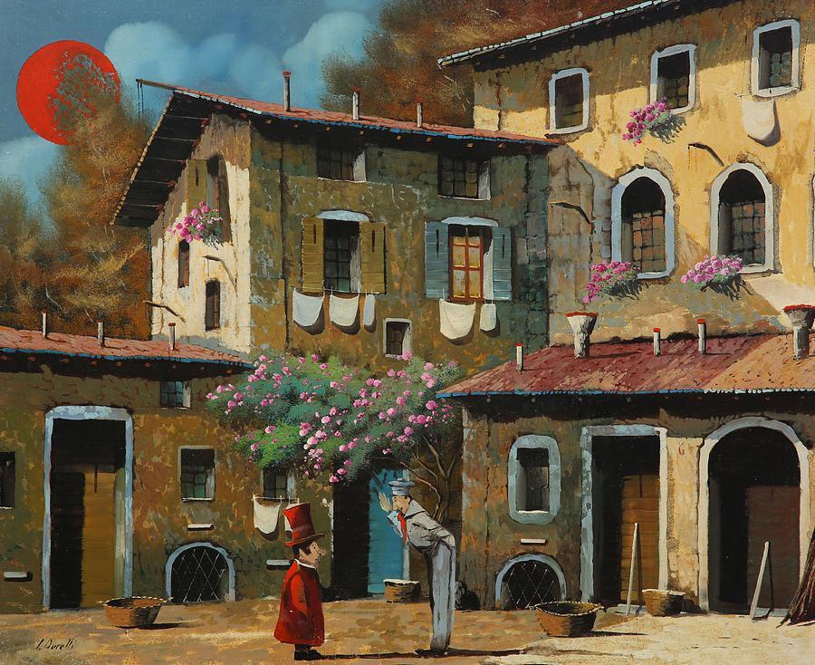 Sailor Painting - Il Notaio E Il Marinaio by Guido Borelli