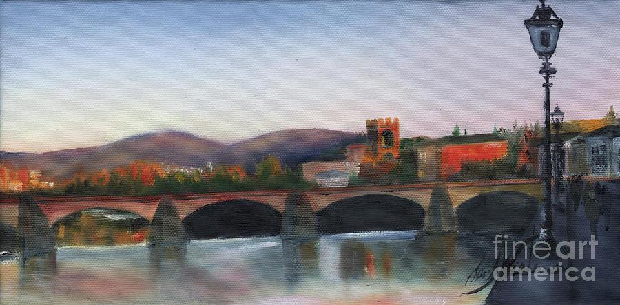 Italy Painting - Il Ponte Santa Trinita by Leah Wiedemer