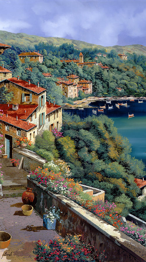 Italy Painting - Il Promontorio by Guido Borelli