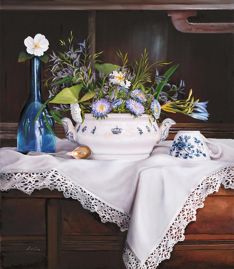 Tea Painting - Il Te Del Pomeriggio by Danka Weitzen