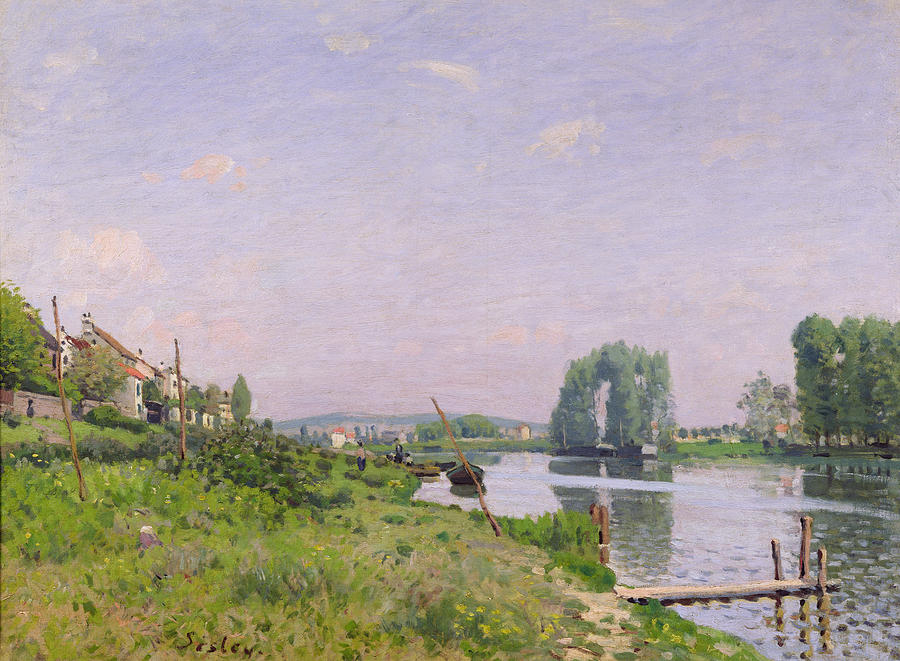 Sisley Painting - Ile Saint Denis by Alfred Sisley