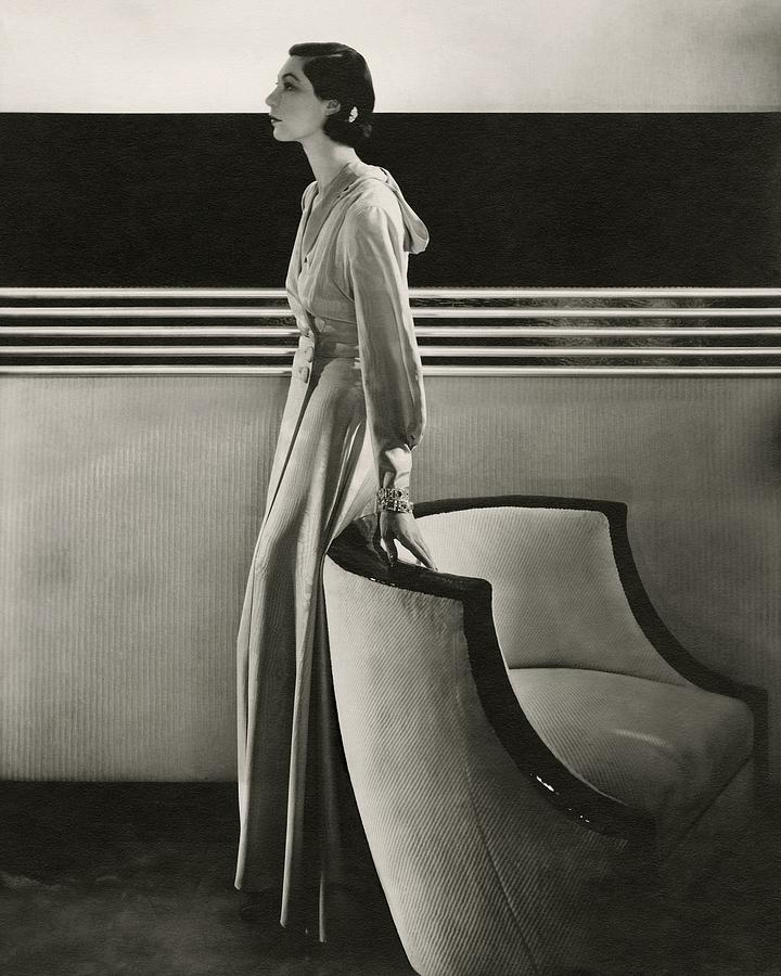 Ilka Chase Wearing Black Starr And Frost-gorham Photograph by Edward Steichen