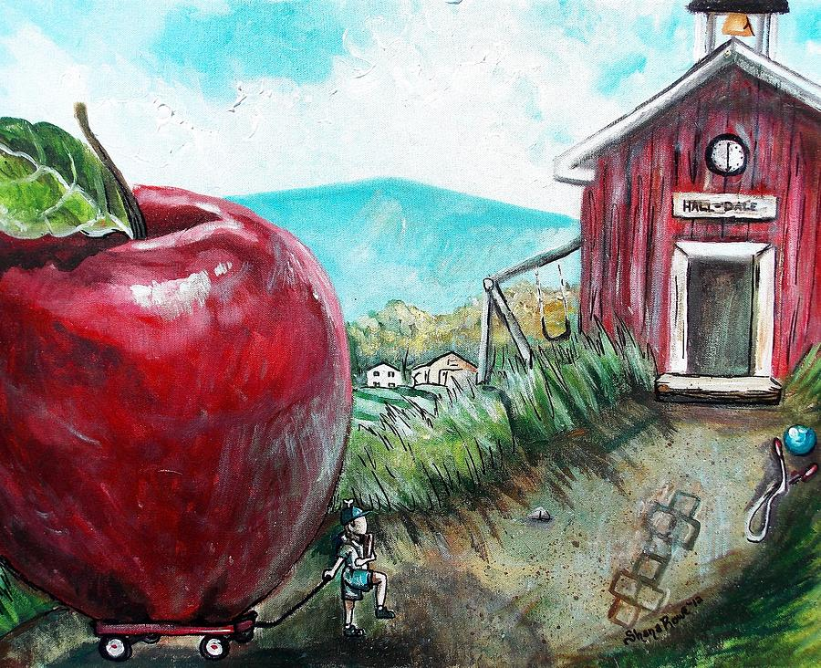 Apple Painting - Ill Be The Teachers Pet For Sure by Shana Rowe Jackson