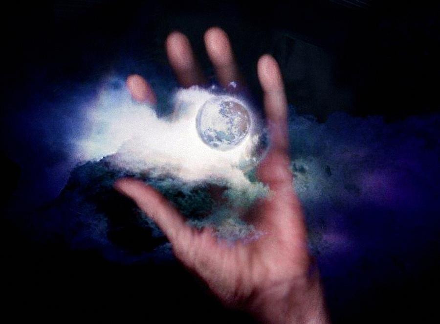 Hand Digital Art - Ill Take Down The Moon For You by Gun Legler