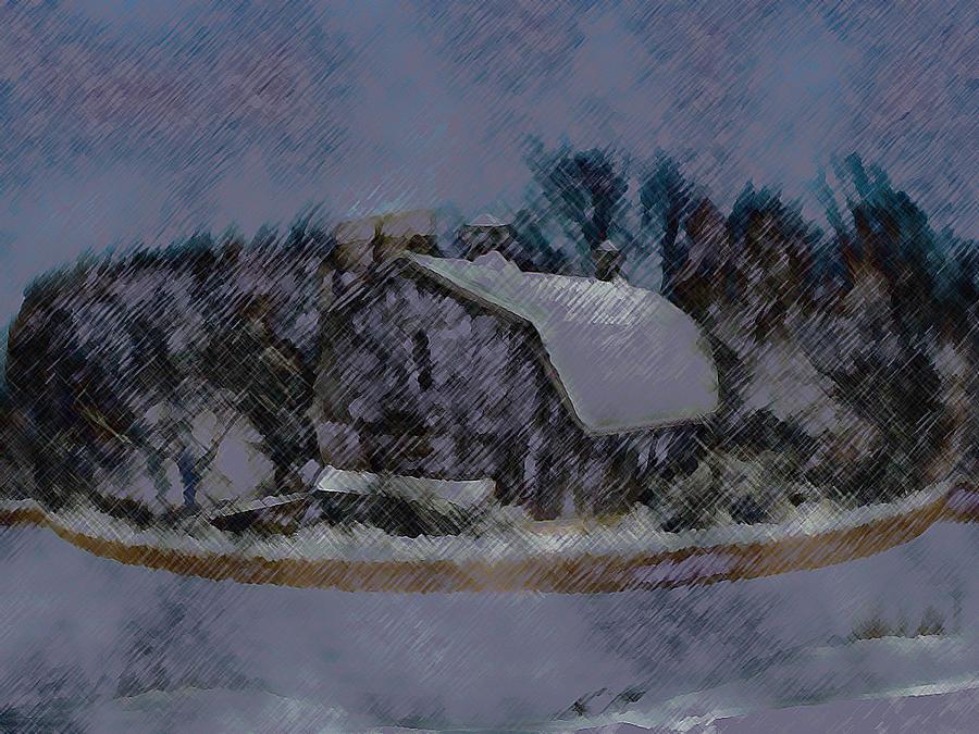 Barns Mixed Media - Illinois Barn Rock Wall by Dennis Buckman
