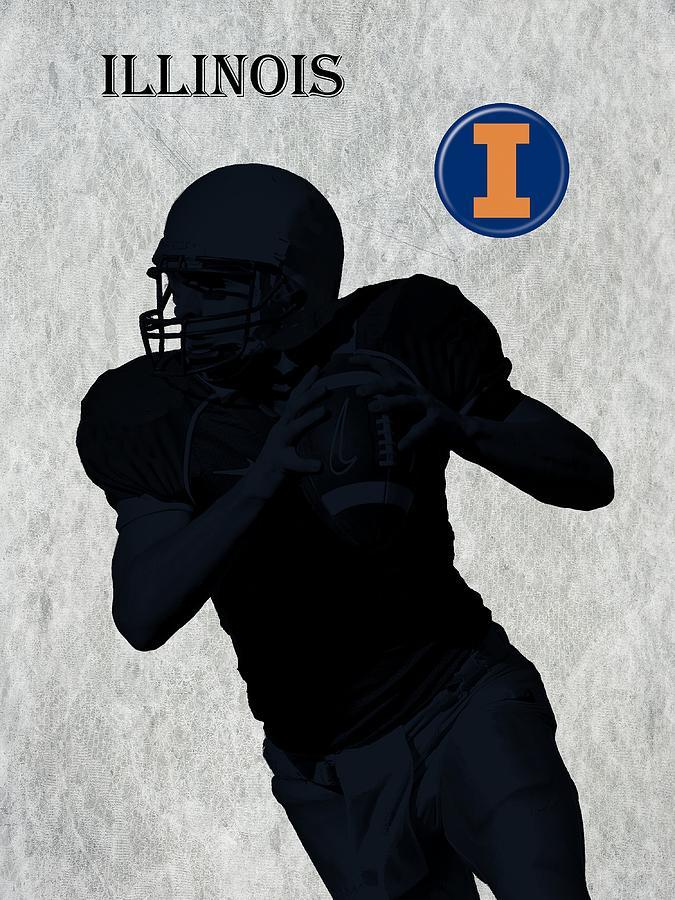 Football Digital Art - Illinois Football by David Dehner