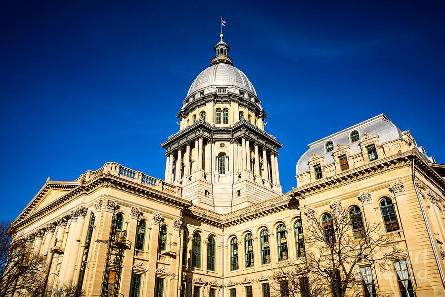 America Photograph - Illinois State Capitol Building In Springfield by Paul Velgos