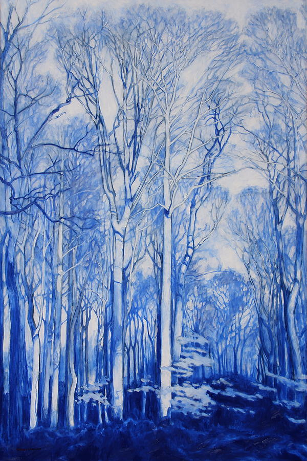 Forest Painting - Illuminated Arboretum by Andrew Danielsen